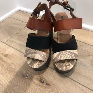 Mossimo snake print wedge sandals